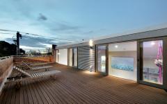 terrasse deck bois lattes aménagement sur le toit