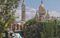 terrasse sur le toit appartement de ville avec vue paris