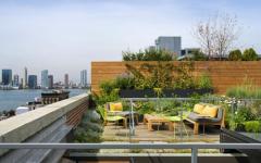 terrasse sur le toit loft industriel