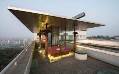 balcon toit maison moderne