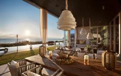 terrasse bois villa mer