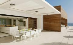 terrasse luxe extérieure avec vue sur mer