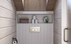 toilettes maison familiale néo rustique