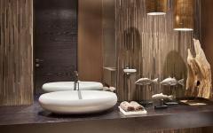 décoration des toilettes éclectique accessoires