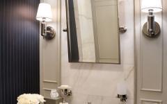toilettes marbre blanc design somptueux