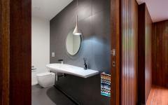 Toilettes design de cette maison contemporaine