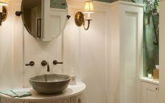 toilettes rustiques style rétro