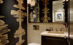 toilettes bois marbre noir