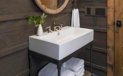 déco design salle de bain rustique
