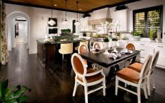 grande cuisine luxe salle à manger