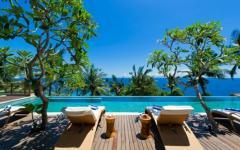 terrasse unique luxe villa à louer bali