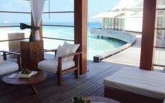 espaces outdoor villa de luxe Maldives
