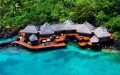 complexe hôtelier Laucala resort