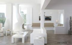 design blanc immaculé villa de luxe