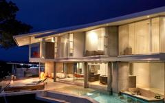 Belle maison d'architecte de vacances exotiques