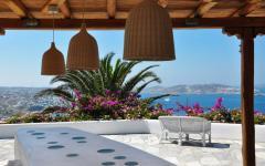 terrasse vue panoramique mer d'Egée
