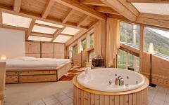 chambre en bois chalet luxe alpes