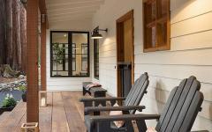 porche sur la façade maison familiale