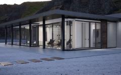 façade vitrée villa maison secondaire mer