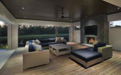 terrasse extérieure couverte résidence de luxe