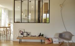 verrière cuisine rénovée design appartement familiale de ville