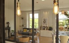 verriere luminaire chic style industriel appartement familial refait