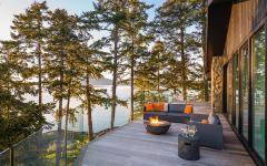 villa moderne luxueuse sur île