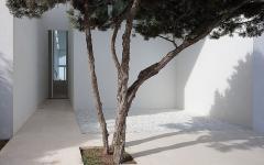 entrée espace outdoor tendance villa de luxe vacances en Espagne