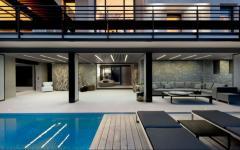 Piscine à débordement villa de luxe nice