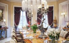 salle à manger villa de luxe orientale