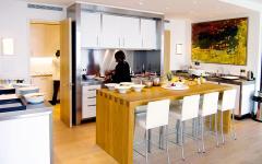 cuisine ouverte villa de luxe à louer pour millionnaires