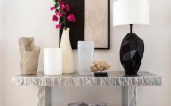 mobilier contemporain épuré minimaliste villa de vacances italie