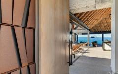accès terrasse villa de plage