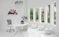 intérieur élégant et luxueux résidence secondaire bureau