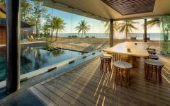 terrasse vitrée vue sublime