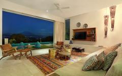 séjour design exotique luxe