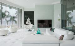 intérieur design en blanc déco luxe prestige