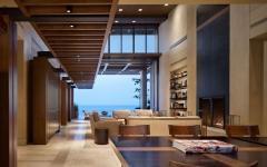maison secondaire d'architecture sur la côte