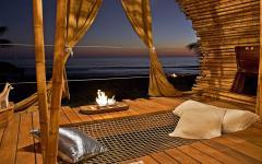 hamac intégré villa sur la plage avec vue