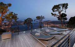 Terrase en teck vue sur mer villa luxe prestige