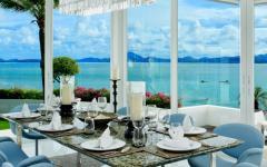 salle à manger vue panoramique fabuleuse
