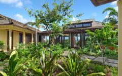 extérieur luxuriant verdoyant villa