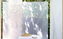 Voiles transparents blancs espaces zen