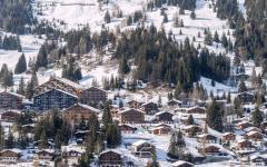 Alpes suisse vacances de ski station luxe chalet