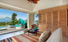 Chambre tropicale avec vue exotique