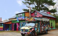 projet artistique et créatif maison originale et bus