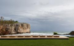 piscine débordement face océan
