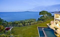 vue panoramique océan maison contemporaine