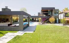 le jardin pelouse outdoor maison d'architecte moderne