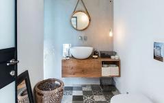 aménagement grandes toilettes invités maison de ville